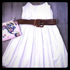 J. Crew white embroidered dress, size 2.
